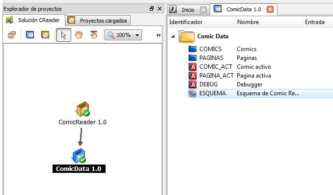 Proyecto de datos de Comic Reader 1.0