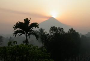 Amanecer en la isla de Java